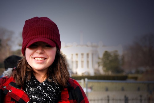 Me in front of the White House ... being a tourist.