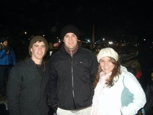 Will, Meredith and I before dawn on the National Mall.